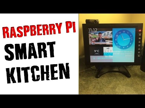 DIY Raspberry Pi Smart Kitchen ✔ Easy Home Automation Display Project