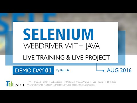 Selenium with  Java Advanced Framework Training and Project for beginners day 01
