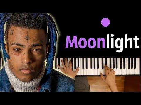 XXXTENTACION - Moonlight ● караоке   PIANO_KARAOKE ● ᴴᴰ + НОТЫ & MIDI