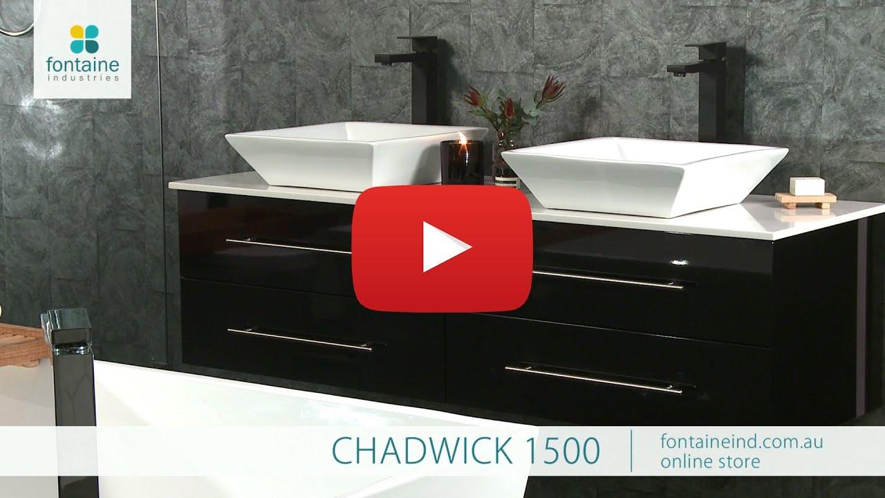 Beliani modern malaga bathroom vanity with sink cabinets and mirrors - Chadwick Vanity Black Stylish Cabinet Wall Basin Stone 1500 Fontaineind Com Au