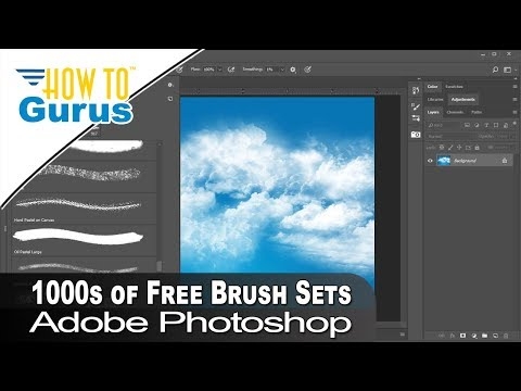 Free Photoshop Brushes Download And Install 1000's Of Free Custom Brushes Photoshop CC Tutorial
