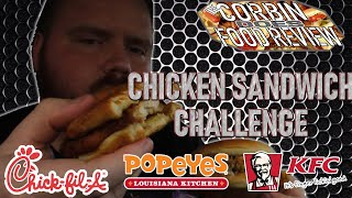 Chicken Sandwich Challenge - Who has the Best - Corbin Does Food Review