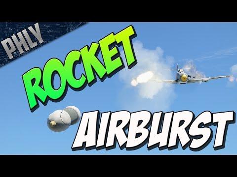 ROCKET AIR BURST - Bomber Hunting (War Thunder Plane Gameplay)