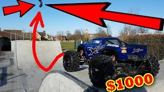 $1000 RC Car DESTROYED on Skate Park - Traxxas X-Maxx Edition