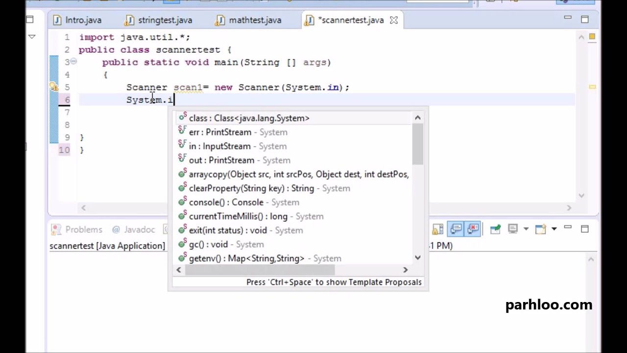 2.6 Taking input from user using scanner class - Java Tutorial in ...