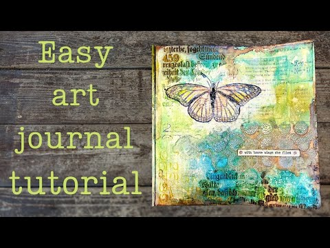 Easy art book page tutorial with Distress pastes and Sprays
