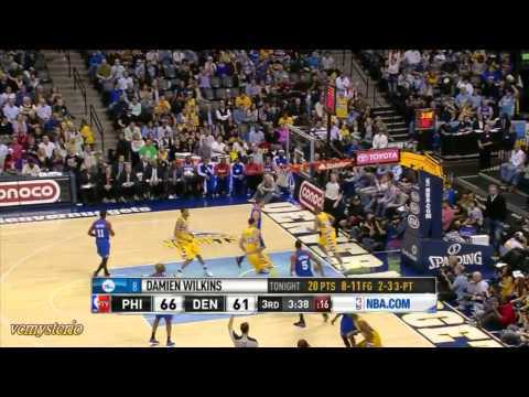 Corey Brewer 29pts vs 76ers (2013.03.21)