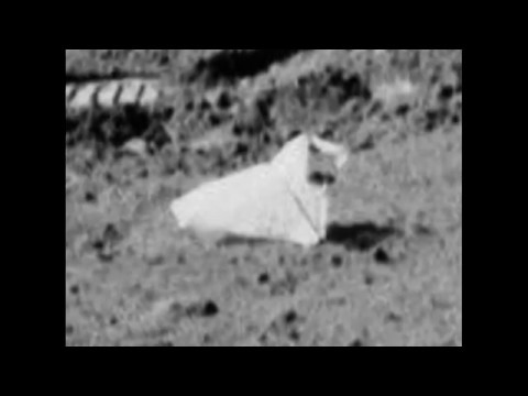 Moon Hoax Apollo 17 -Disney's Quirky Mustached Man Faced Origami Reads A Book Rock