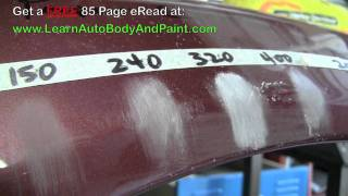 Most Common Autobody Sand Paper Grits - 80 Grit, 150 Grit, 240 Grit, 320 Grit, 400 Grit, 2000 Grit