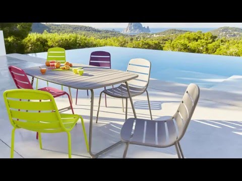 collection mobilier de jardin 2016 hyba chez carrefour la ligne acier 151 youtube. Black Bedroom Furniture Sets. Home Design Ideas