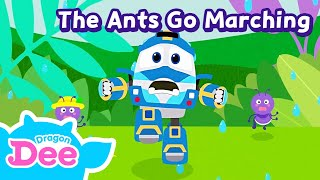 The Ants Go Marching   Kids songs   LittleTooni songs with Robot Trains