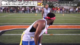 Team Chris Brown Vs. Quincy Celebrity Flag Football Charity Game | OnTopHipHop.com