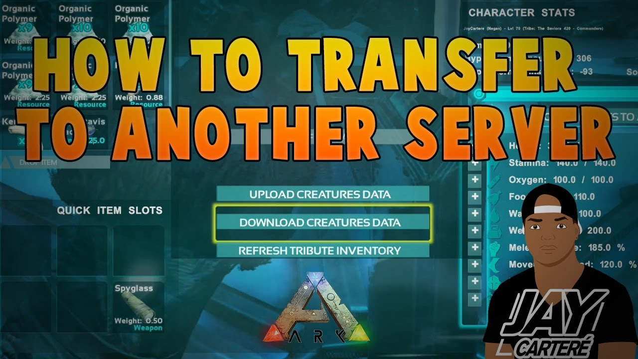 Ark Survival Evolved PS4 Tutorial - How to Transfer a Character / Dinosaur  To Another Server on PS4