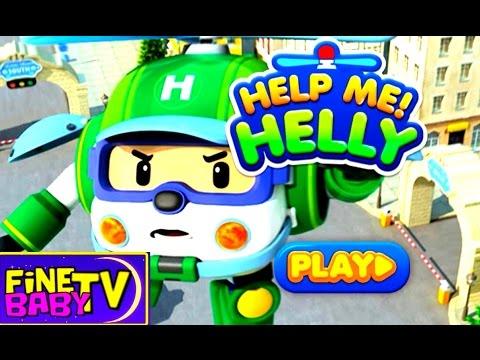 Обзор игры для детей - Робокар Хелли спасатель Robocar Poli FineBabyTV
