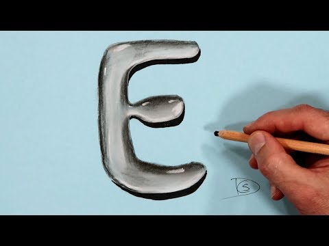 how-to-draw-a-letter-e-in-water-with-dry-pastel-pencils