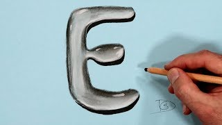 How to Draw a Letter E in Water With Dry Pastel pencils