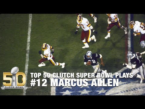 #12: Marcus Allen Turns Nothing into a 74-yard TD in Super Bowl XVIII | Top 50 Clutch SB Plays