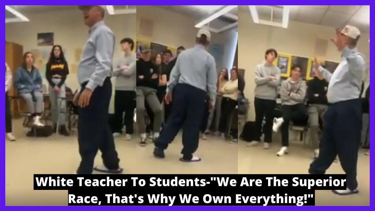 "|NEWS| White Teacher To Students-""We Are The Superior Race, That's Why We Own Everything!&"