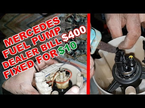 We Put a Universal Fuel Pump on Mercedes / Restored Fuel Pump on Mercedes W211 and saved $400