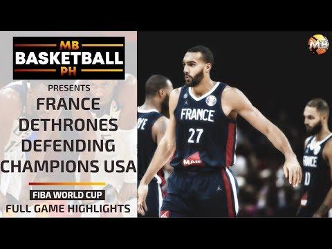 FRANCE TAKES DOWN USA (DEFENDING CHAMPION) GAME HIGHLIGHTS | FIBA WORLD CUP