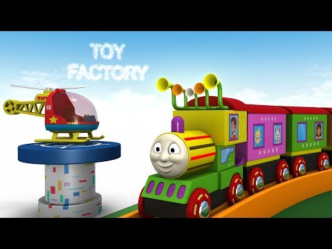 Cartoon Videos For Kids - Toy Train Cartoon - Toy Factory - Thomas Train - Choo Choo Train - JCB