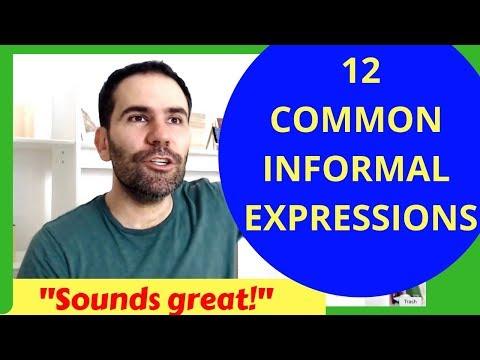 12 Informal English Expressions: English Conversation