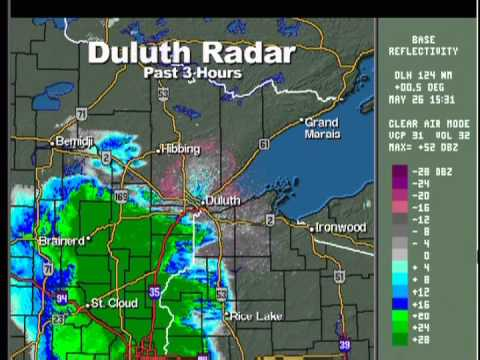 5-26-12 St. Paul, MN TPT Weather Radio (Thunderstorms) 10:45 am