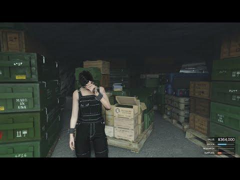 GTA online - Bunker Raid- Lost Half Stock-My Mistake