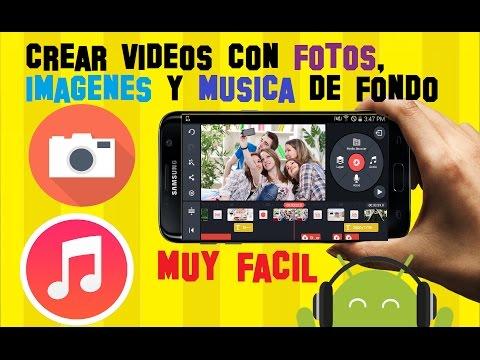 Como Hacer y Crear VIDEOS con FOTOS y MUSICA y Animación en tu celular - Facil y GRATIS para Android
