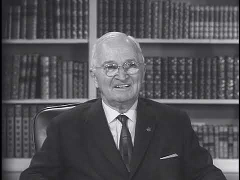 MP2002-360 Former President Truman Discusses The Recognition Of Israel