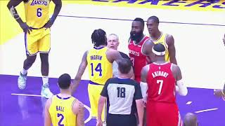 Chris Paul and Rajon Rondo Fight!! - Brandon Ingram Sucker Punched- Lebron James breaks up
