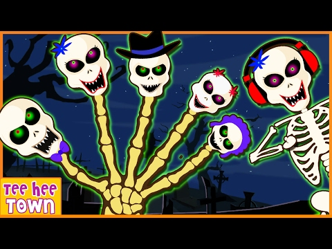 Crazy Skeleton Family | Finger Family Songs and Many More | Nursery Rhymes by Teehee Town