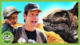 Giant Dinosaur Pranks Adventure at T-Rex Ranch & Dinosaurs For Kids | Dinosaur Kids Videos