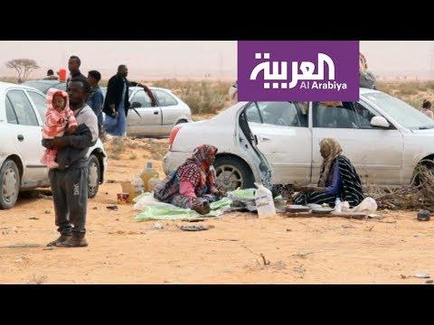 النازحون من تاورغاء .. معاناة مستمرة في الصحراء