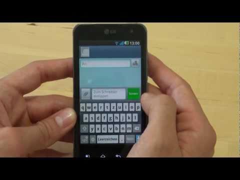 LG P990 Optimus Speed 2X Test Bedienung