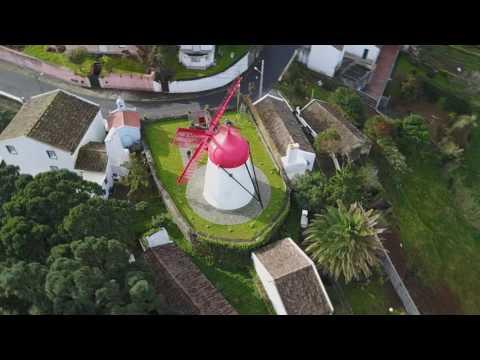 Açores Azores São Miguel vista por Drone Janeiro 2017
