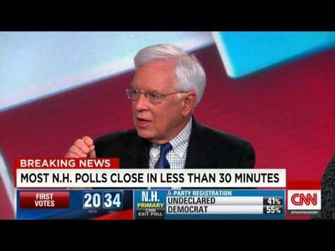CNN - NH Primary, Bernie v Hillary