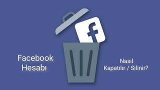 facebook nasıl kapatılır