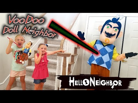 Hello Neighbor in Real Life VooDoo Doll! We Put JoJo Siwa Bows on Him!!