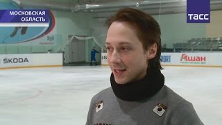 Russian TV news:Johnny Weir and others about Plushenko