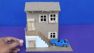 Easy Miniature Dollhouse | Cardboard House Craft