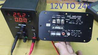 Cách để mạch sub 12V chạy ắc quy 24V đơn giản