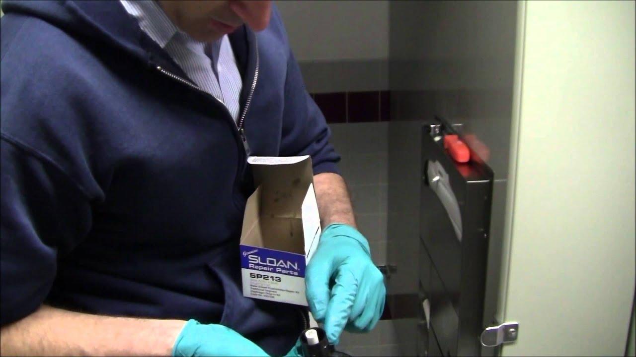 Toilet Constant Running, Sloan Valve - YouTube