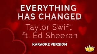 Taylor Swift and Ed Sheeran - Everything Has Changed (Karaoke Version)