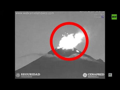 Volcano Popocatepetl erupts in Mexico