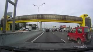 Видеорегистратор SHO-ME A7-GPS-GLONASS: видео днем, авторегистратор