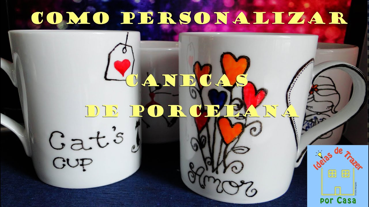 Suficiente Como personalizar canecas de porcelana [tutorial] - YouTube OR24