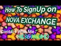 How to register on Nova Exchange.