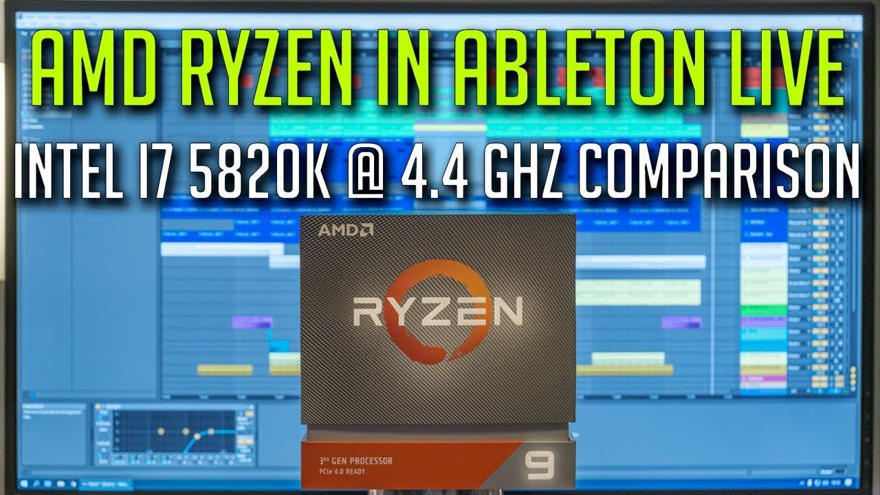 Ryzen 9 3900X in Ableton Live - CPU Showdown With Intel i7 5820k