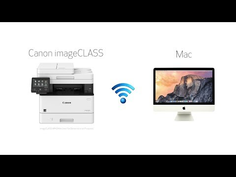 Wi-Fi-Setup With A Mac For Canon ImageCLASS